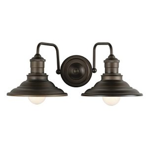 allen + roth Hainsbrook 2-Light Bronze Coastal Vanity Light